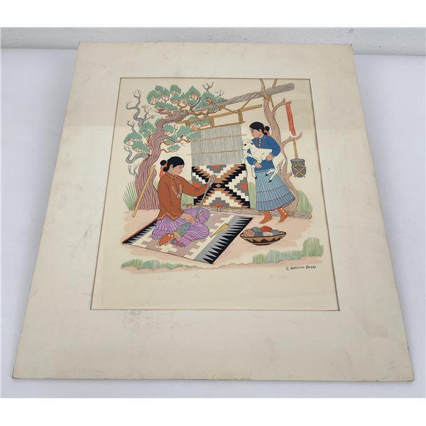 Harrison Begay Serigraph Silkscreen Print