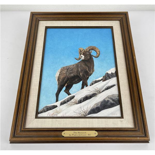 Padre Johnson Montana Bighorn Sheep Painting
