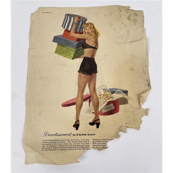 Walter Klett Pin Up Girl Poster