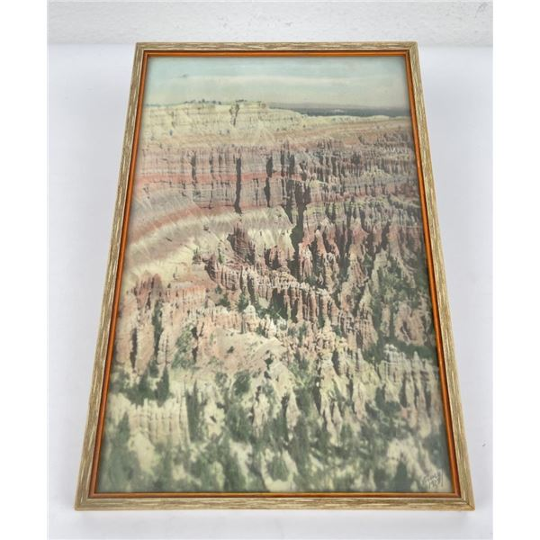 Antique Hand Tinted Grand Canyon Photo