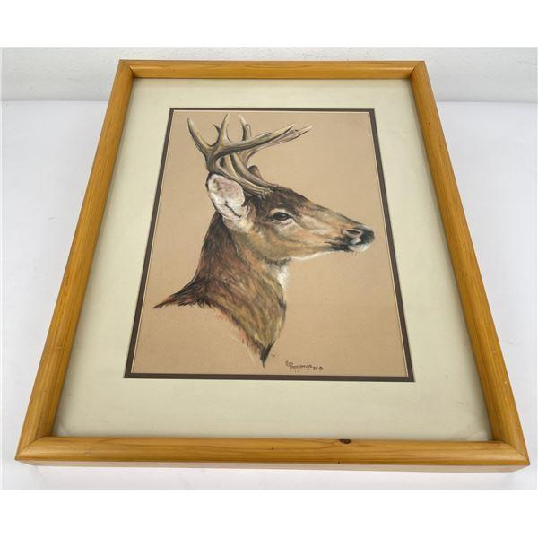 C.S. Poppenga Deer Painting Montana