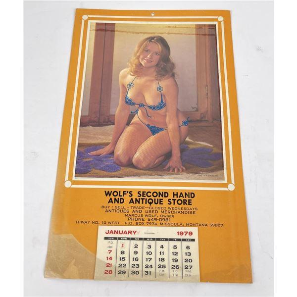 Missoula Montana Pin Up Lift Up Calendar 1979