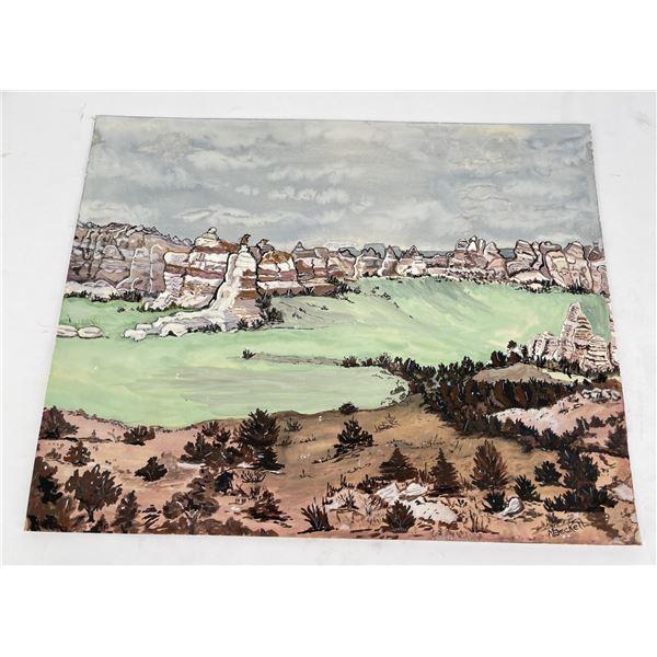 Montana Watercolor Mountain Painting