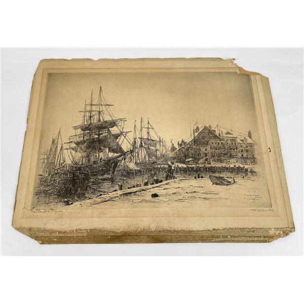 Frederick Leo Hunter Harbor Engraving