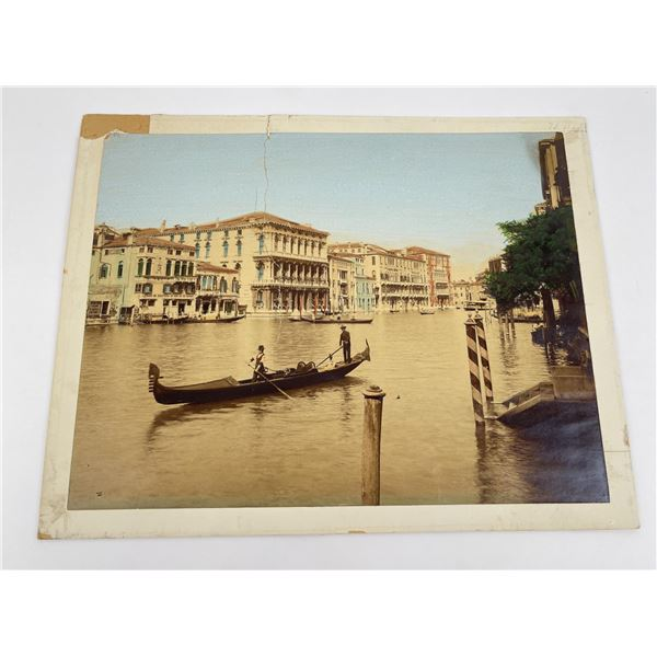 Antique Venice Italy Hand Tinted Photo