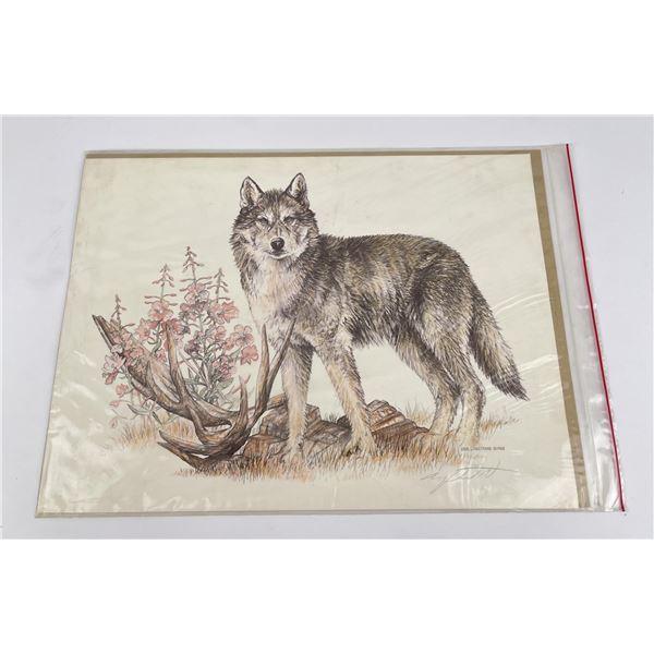 Doug Linstrand Signed Wolf Print