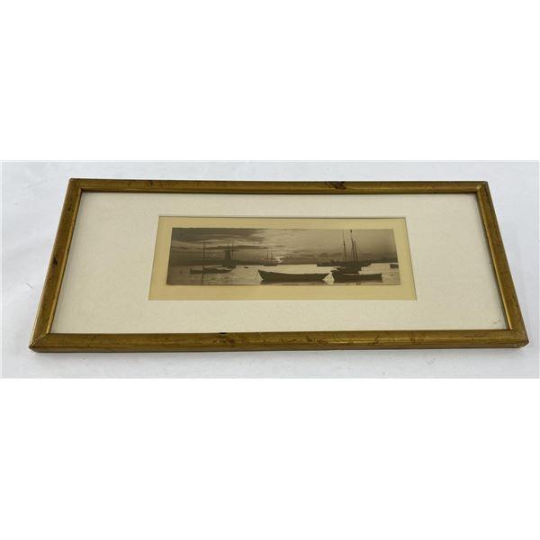 Antique Harbor Sepia Tone Photo