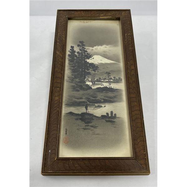 Antique Japanese Mt Fuji Painting