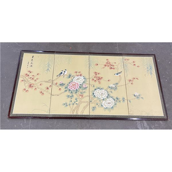 Antique Chinese Silk Painted Screen