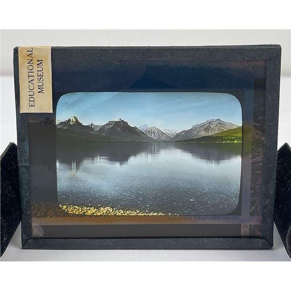 Lake McDonald Glacier Park Magic Lantern Slide