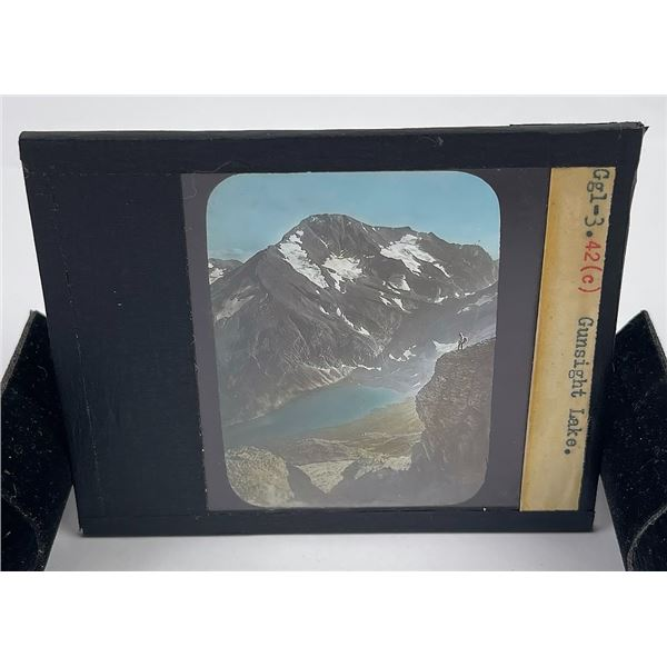 Gunsight Lake Glacier Park Magic Lantern Slide