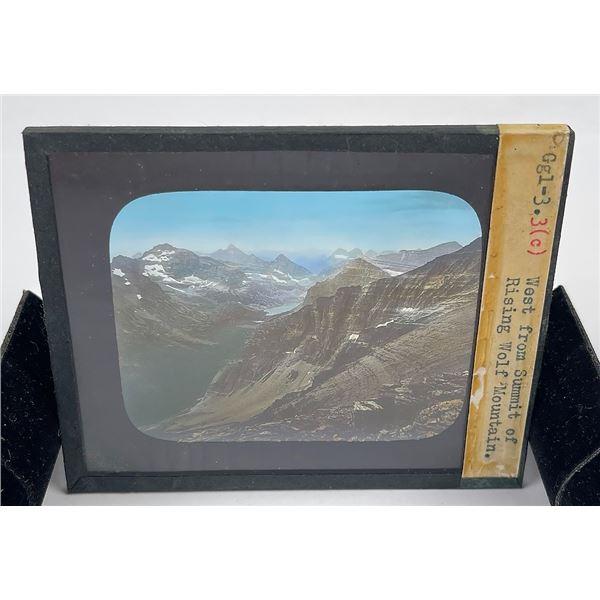 Wolf Mountain Glacier Park Magic Lantern Slide
