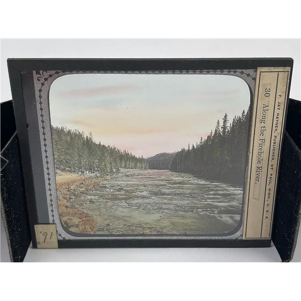 Firehole Yellowstone Park Magic Lantern Slide