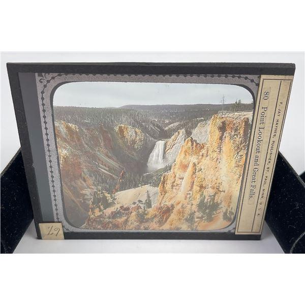 Great Falls Yellowstone Park Magic Lantern Slide