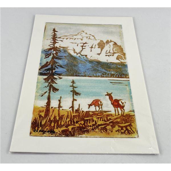 John Louis Clarke Montana Linocut Print
