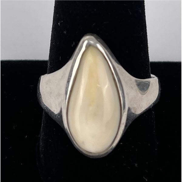 Sterling Silver Montana Elk Tooth Ring