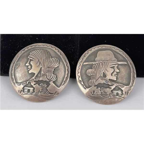 Mexican Sterling Silver Clip on Earrings