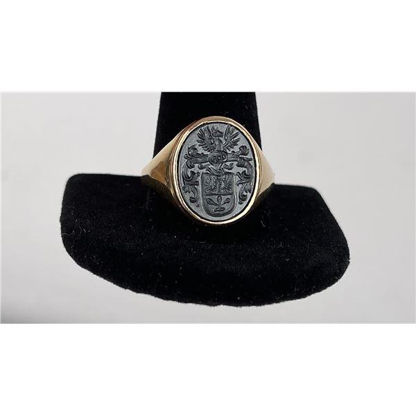 10k Yellow Gold Itaglio Signet Ring