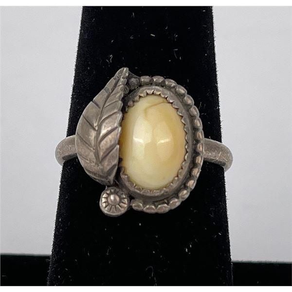 Sterling Silver Navajo Elk Tooth Ring