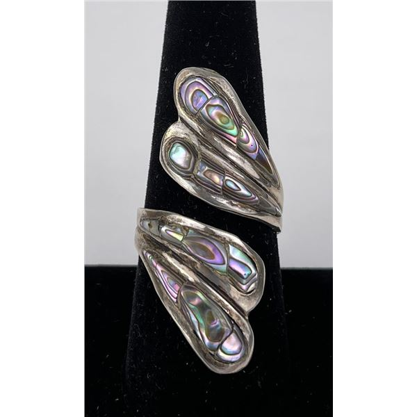 Taxco Sterling Silver Abalone Ring