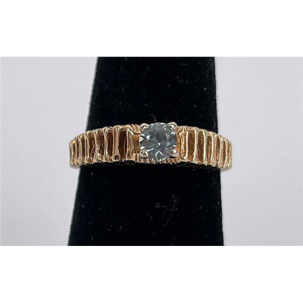 14k Yellow Gold Montana Sapphire Ring