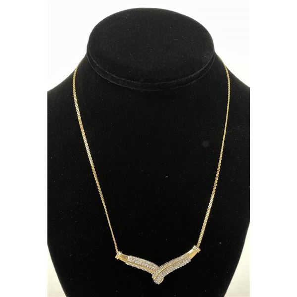 10k Yellow Gold and Diamond Necklace