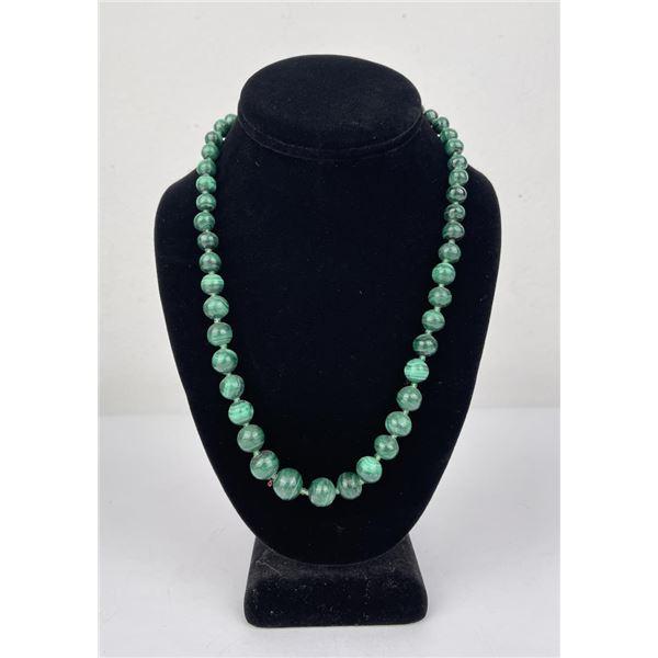 Malachite Bead Necklace