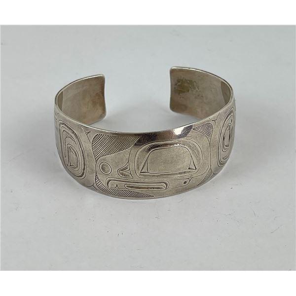Danny Dennis Haida Indian Sterling Bracelet