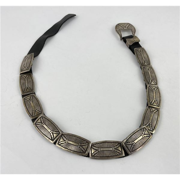 Exceptional Sterling Silver Navajo Concho Belt