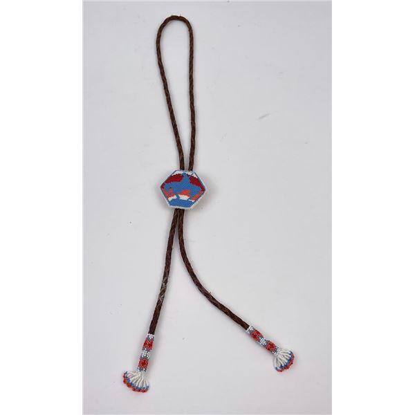 Blackfoot Montana Indian Beaded Bolo Tie