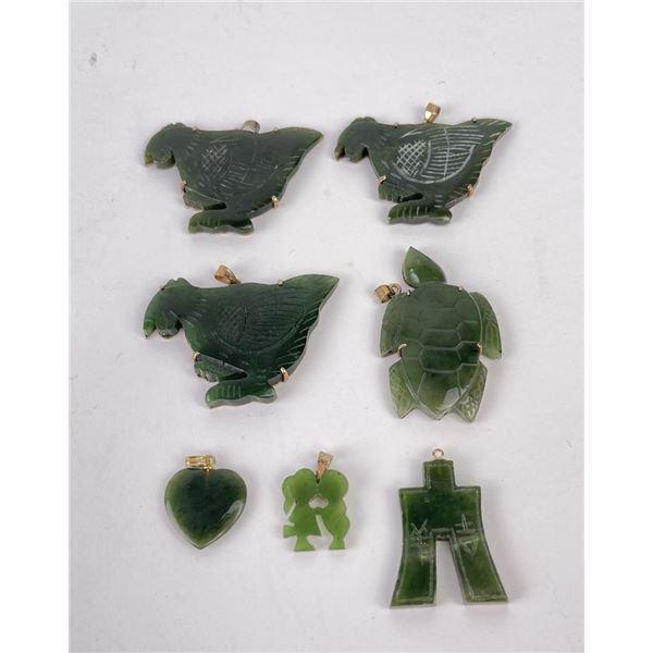Lot of Nephrite Jade Chinese Pendants