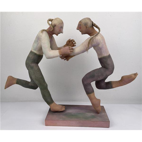 Lenore Davis Soft Sculpture Woman Encounter