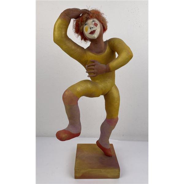Lenore Davis Soft Sculpture Clown Ten