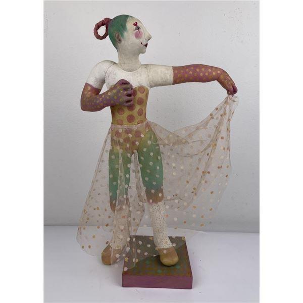 Lenore Davis Soft Sculpture Dancing Clown Woman