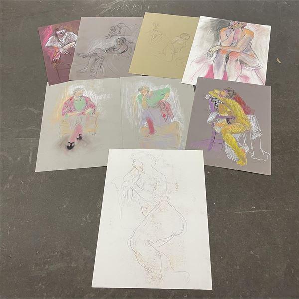 Lot of Lenore Davis Pastel Drawings