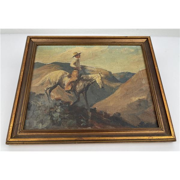 Shorty Shope Cowboy on Horseback Painting