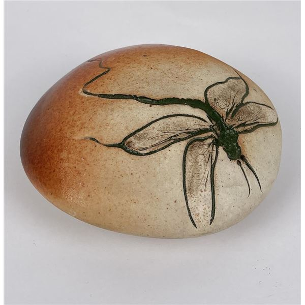 Studio Pottery Dragonfly Paperweight