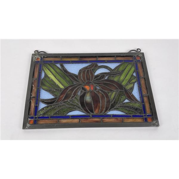 Nice Older Stained Glass Flower Window