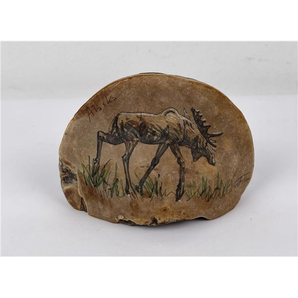 Montana Indian Painted Fungus Moose