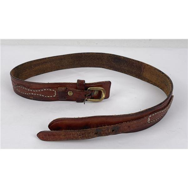 Vintage Leather Cabelas Basket Stamped Belt