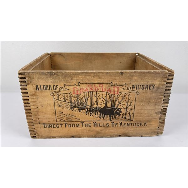 Old Grand Dad Wood Whiskey Crate