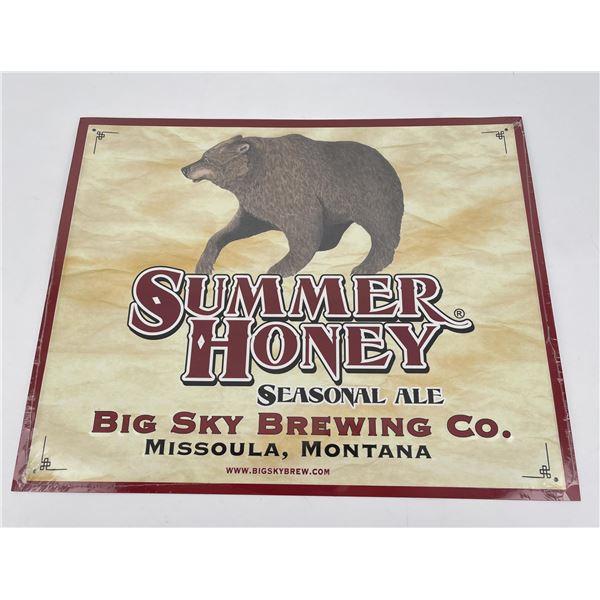 Big Sky Brewing Missoula Montana Sign Summer Honey