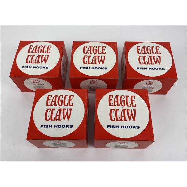 Lot of 500 6/0 Eagle Claw Fishing Hooks