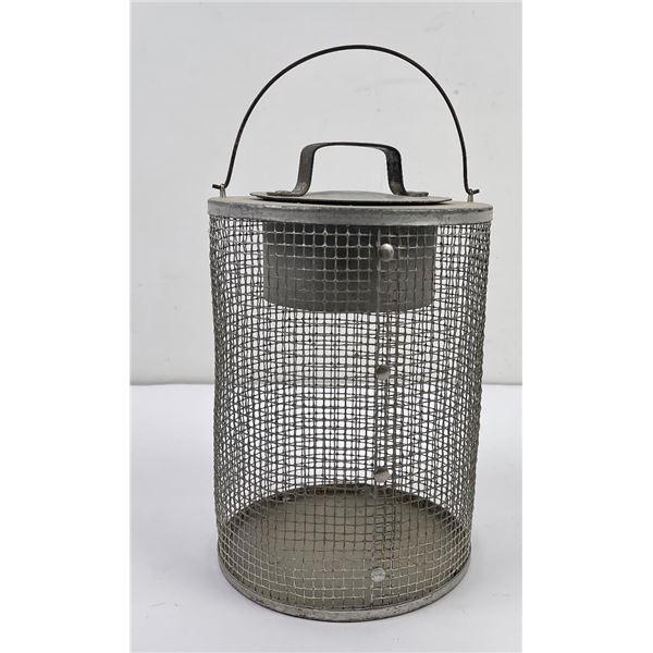 Antique Wire Minnow Bait Bucket