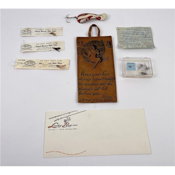 Group of Montana Fishing Collectables