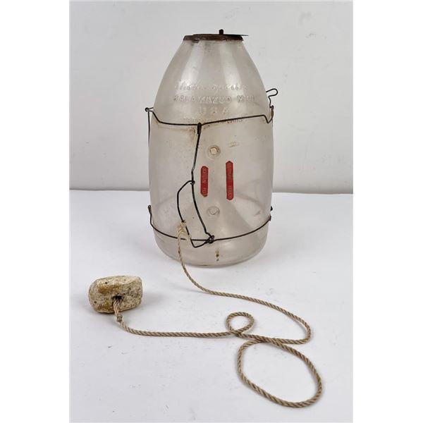 Antique Shakespeare Glass Minnow Trap