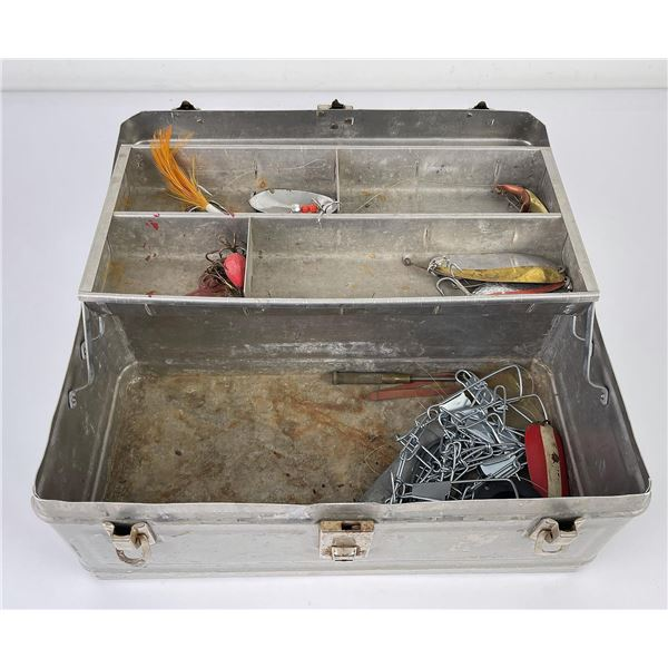 Vintage Fishing Tackle Box and Contents