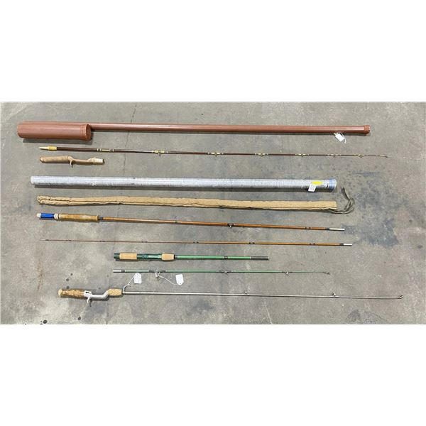 Group of Antique Fishing Rods