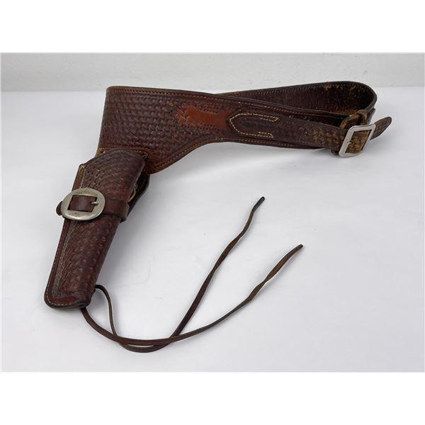 George Lawrence Gunfighter Pistol Belt Leather