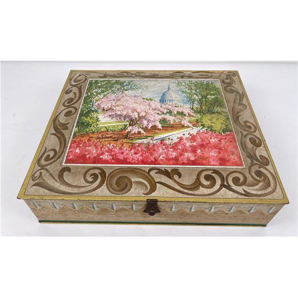 Antique Sunshine Biscuits Box